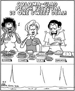 w cartoon peach fest
