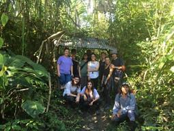 Group of tourists Amazonia Peru Parque de Manu