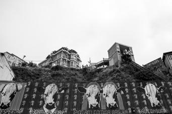 Graffiti dans les rues de Valparaiso au Chili