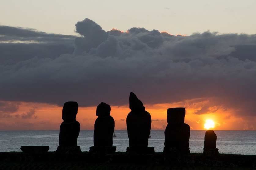 Top 10 Chili sunset over easter island