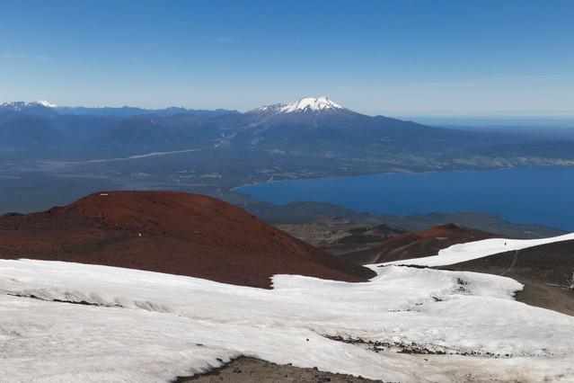 Vue depuis le volcan Osorno