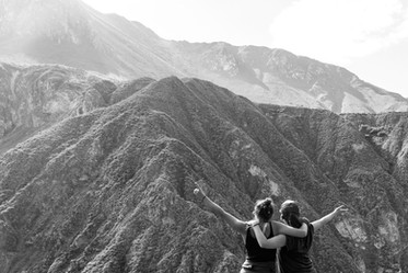 L'Odyssee des Renards walking in the Colca Canyon