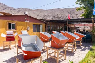 Restaurant solaire Delicias del Sol à Vicuña dans la vallée de l'Elqui au Chili