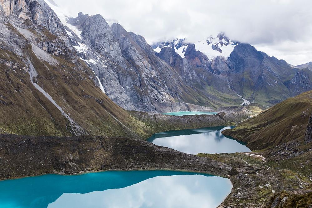 Mirador Las tres lagunas Cordillera Huayhuash