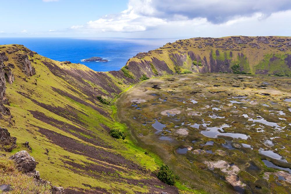 Cratère Orongo sur île de Pâques - Orongo Crater on Easter Island