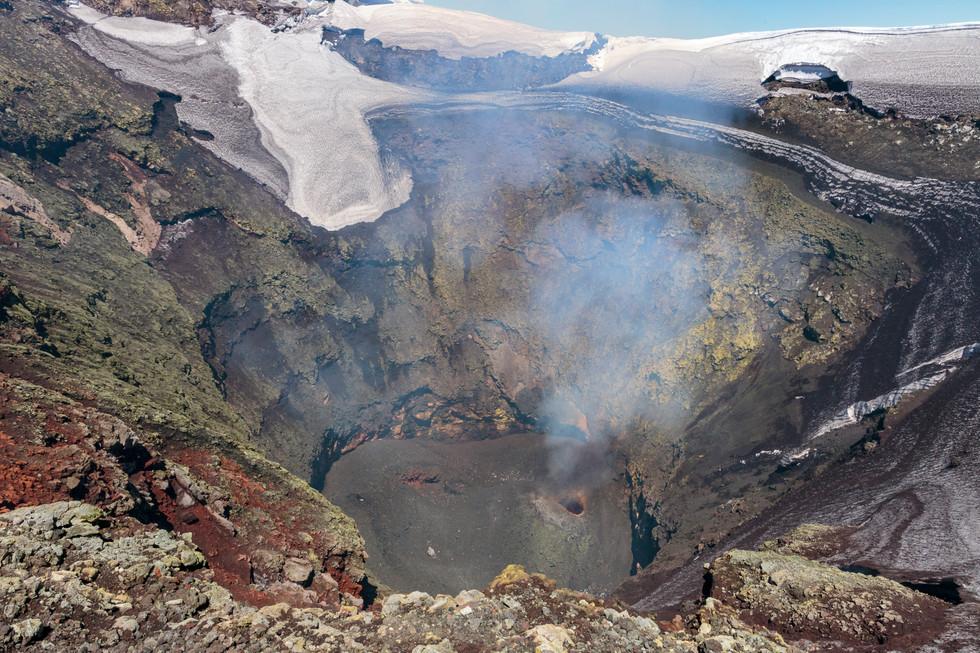 Vue volcan Villarica