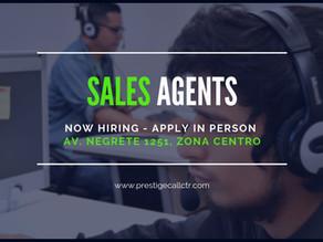 Now Hiring Sales Representatives!