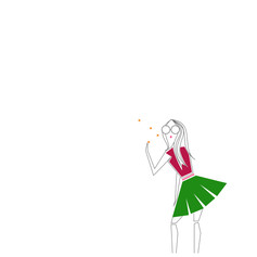 girl wishing on a star