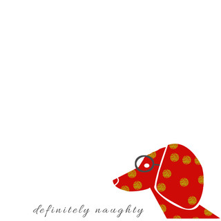 holiday dachshund - set of 4 cards $20