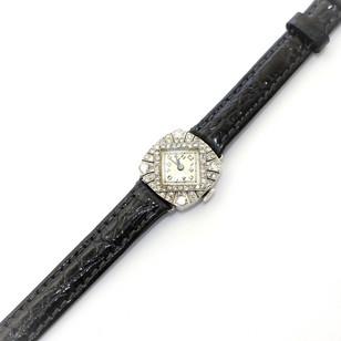 A 1920's platinum Belle Epoque style diamond set dress watch. £1,450.00