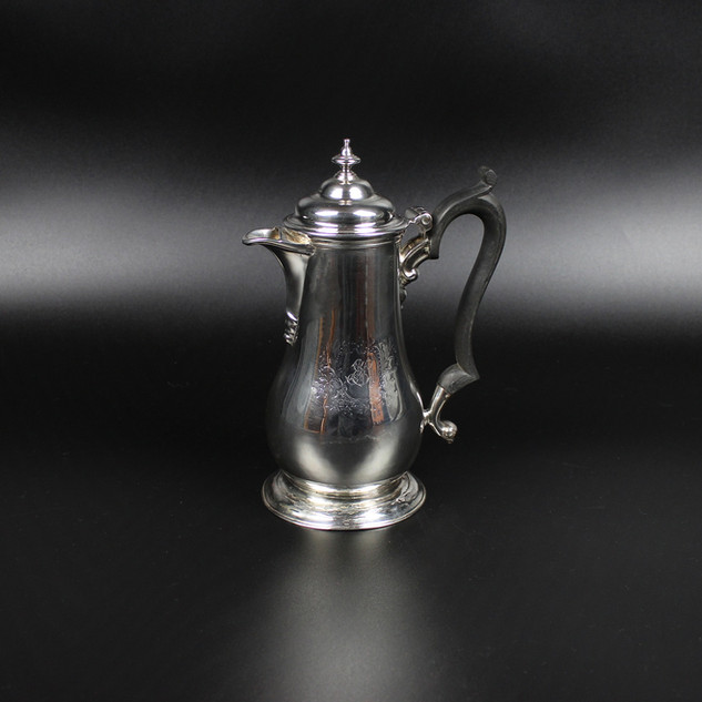 Benjamin Godfree 1748 Coffee jug - Repairs to foot & later initials  20 oz  8 ½ inches  £850.00