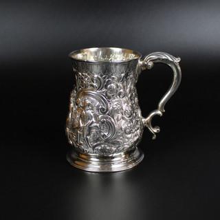 Baluster mug. Base hallmarked 1759. Fuller White Later chasing. £800.00