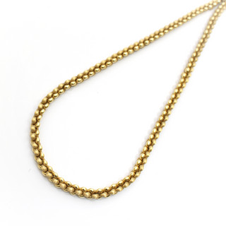 18ct yellow gold brushed and polished gold necklace of fine and heavy quality. £2,750.00