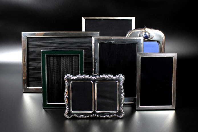 We have a wide range of early and modern silver picture frames. Prices starting from £85.00