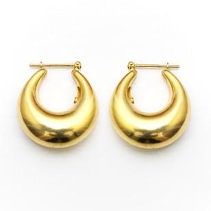 18ct gold chunky hoop earrings. £475.00