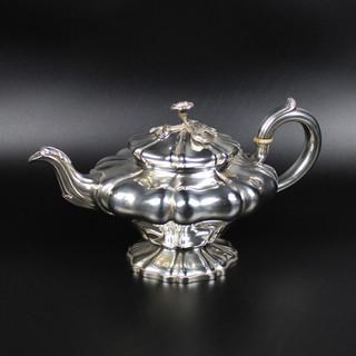 Edward Barton 1832 Lobed, pear body shaped teapot 25 oz  £750.00