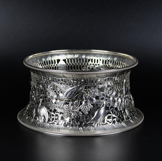 Westersons Dublin 1908 Dish ring – a reproduction of an Irish 18th c model   13	oz  £1450.00