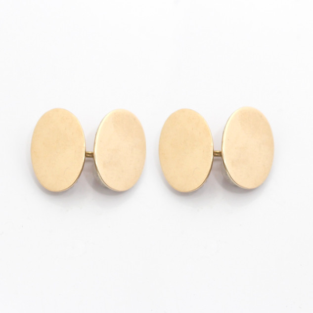 9ct rose gold oval chain cufflinks. £440.00