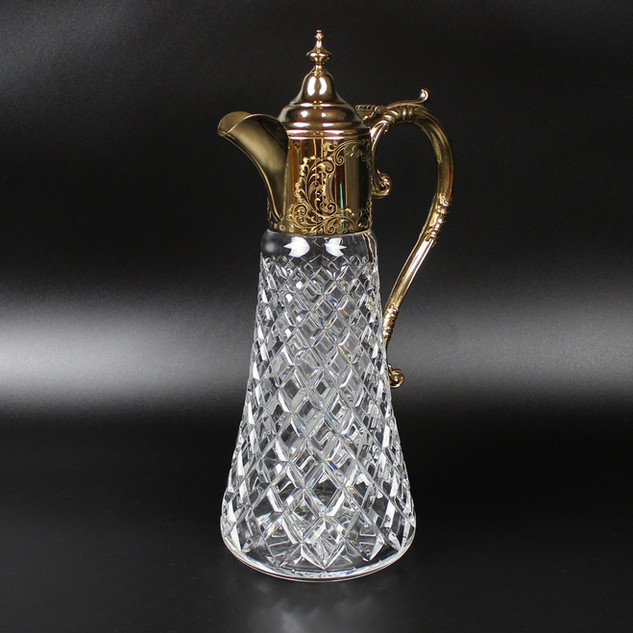 Charles Green Birmingham 1978  Claret Jug Silver gilt and mounted  £ 650.00