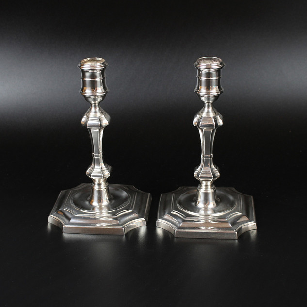 A pair candlesticks with Jubilee marks, 1977. 7 inches  £ 1,250.00