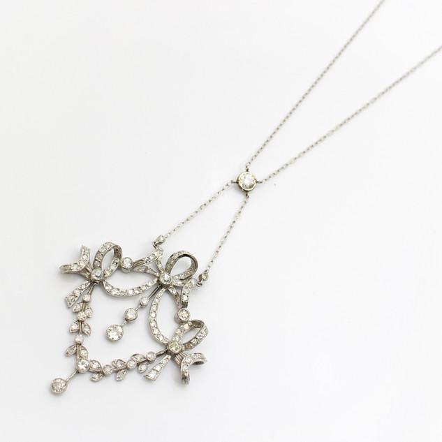 Edwardian diamond set swag pendant of fine quality. £4,750.00