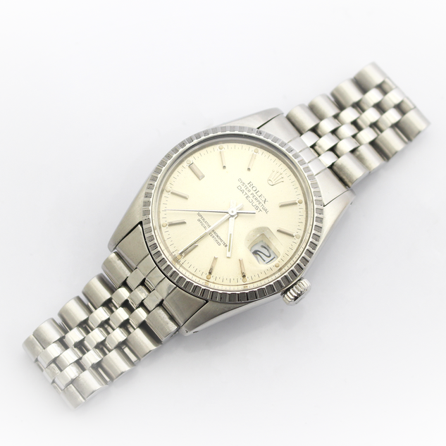 A gentleman's Rolex stainless steel bracelet wristwatch. The Date Just Chronometer model, 36mm dial. With original box, packaging and papers. Pristine order, fully cleaned and serviced. £4,250.00