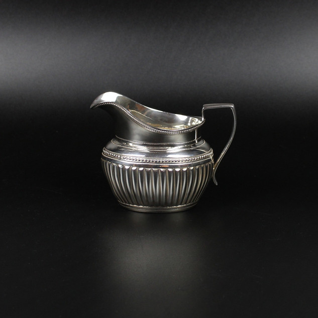 Barnard & Co. 1881 Reproduction Georgian style 3 /4 fluted oval cream jug 5 oz  £225.00