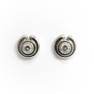 Platinum diamond set stud earrings. The brilliant cut diamonds 0.34ct in total. £1,300.00