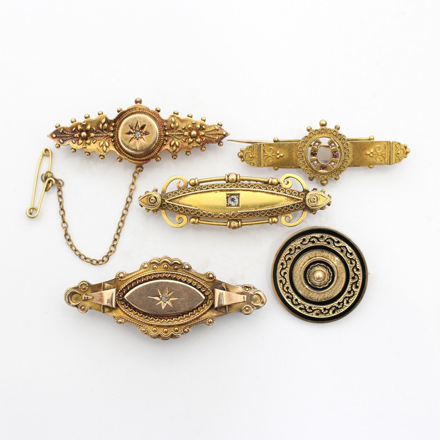 We have a range of early and contemporary gold brooches. Please enquire for prices.