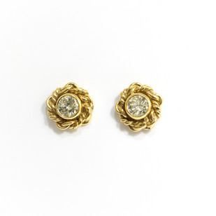 18ct yellow gold diamond rope knot earrings. The brilliant cut diamonds 0.46cts each. £1,250.00