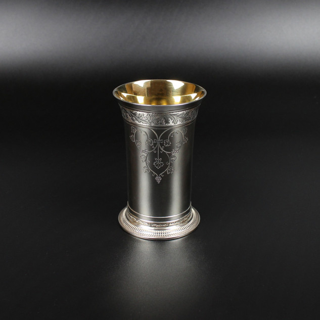 1979  Reproduction Farmstreet Church beaker. This item comes with it's own case.  6 ¾ oz 4 ½ inches £445.00