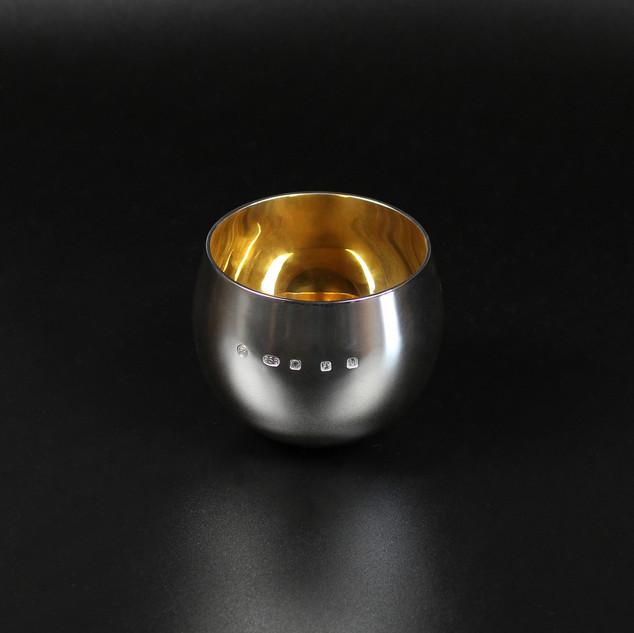 Modern Britannia standard silver tumbler cup  6.2 oz  £585.00