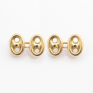 Early 20th century 18ct yellow gold cufflinks of button design. £600.00