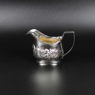 1808  Oval cream jug with reed edge, later chasing.  Crested 4 oz £425.00
