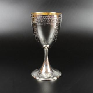 Floral garlanded goblet 1874  8oz 6 ¾ inches  £ 425.00