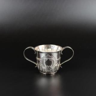 Makers mark indistinct 1760  Miniature porringer  2 ¾ oz 2 ¼ inches £550.00
