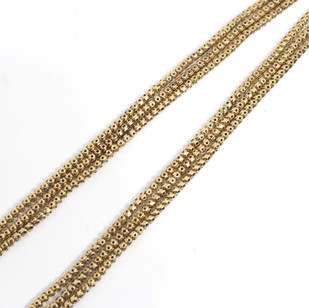 9ct yellow gold fancy three row necklace, weighing 24 grams in good order. £1,200.00