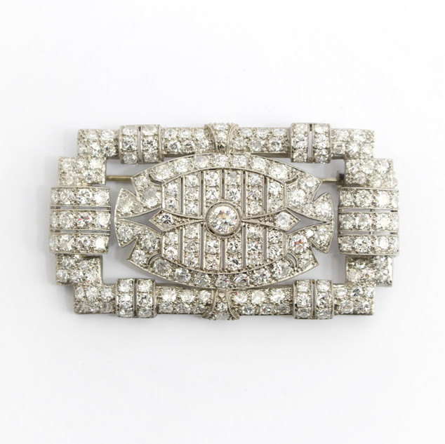 A 1920's platinum and diamond brooch weighing approximatly 8.50cts. £8,500.00