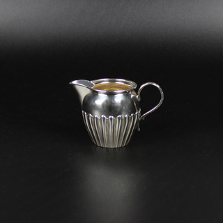 Half fluted  Birmingham  1866 Stamped on base Jas Atckerson Edinburgh to the Queen 80 Princess Street  £175.00