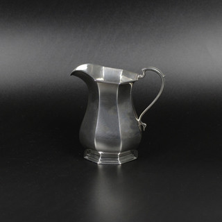 Roberts and Belk  Sheffield 1926  Elegant panelled jug   7 ½ oz  £245 .00