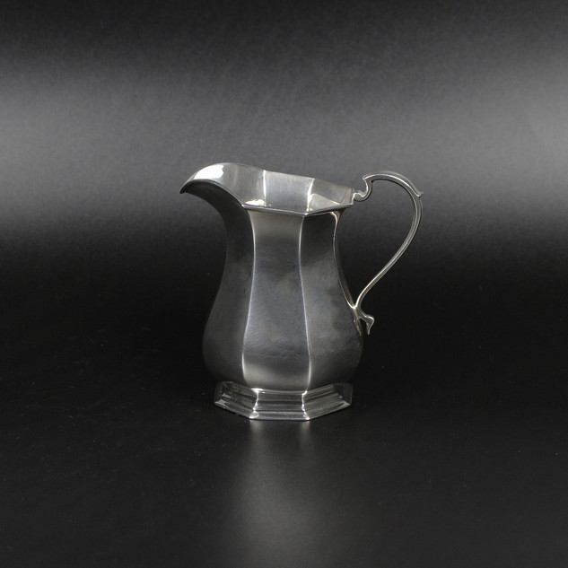 Roberts and Belk  Sheffield 1926  Elegant panelled jug   7 ½ oz  £245 .00