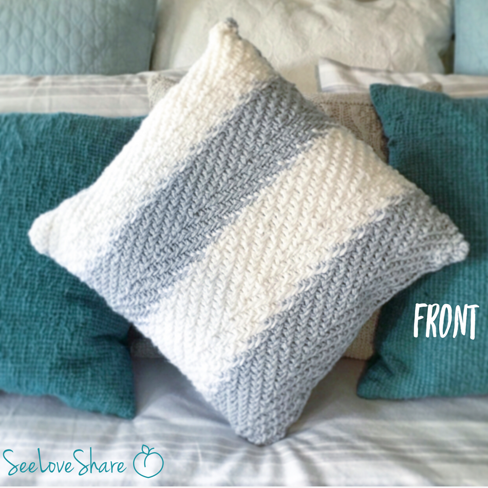 Knit Herringbone Pillow
