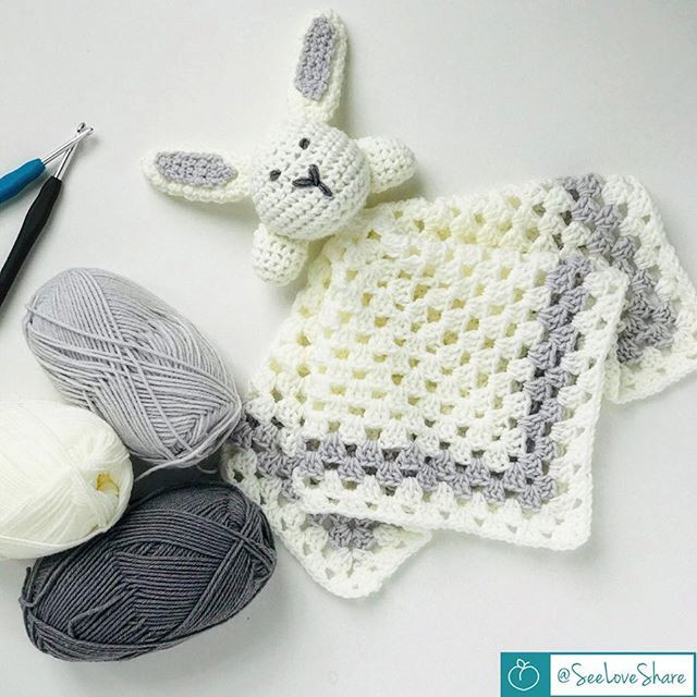 crochet snuggle bunny lovie
