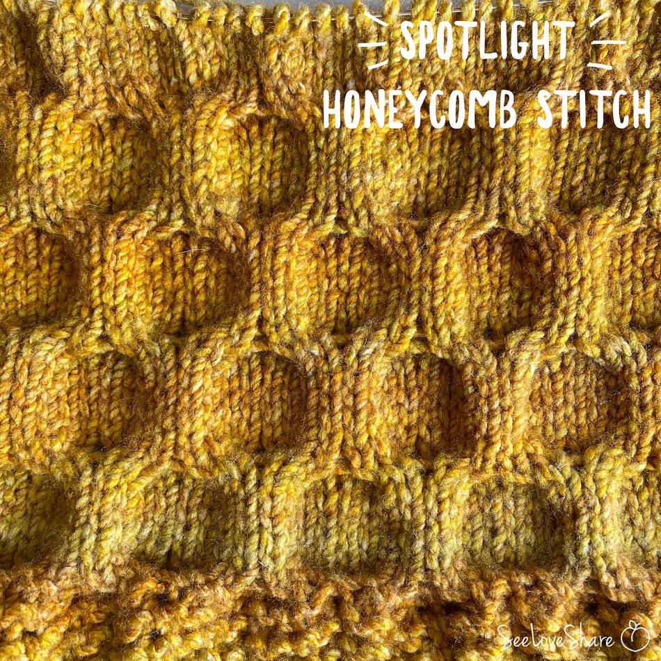 Spotlight Stitch: Knit Honeycomb