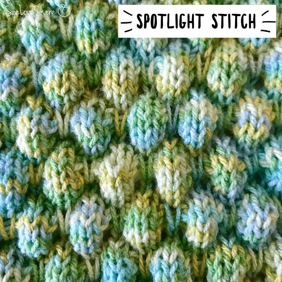 Spotlight Stitch: Knit Bubble Stitch