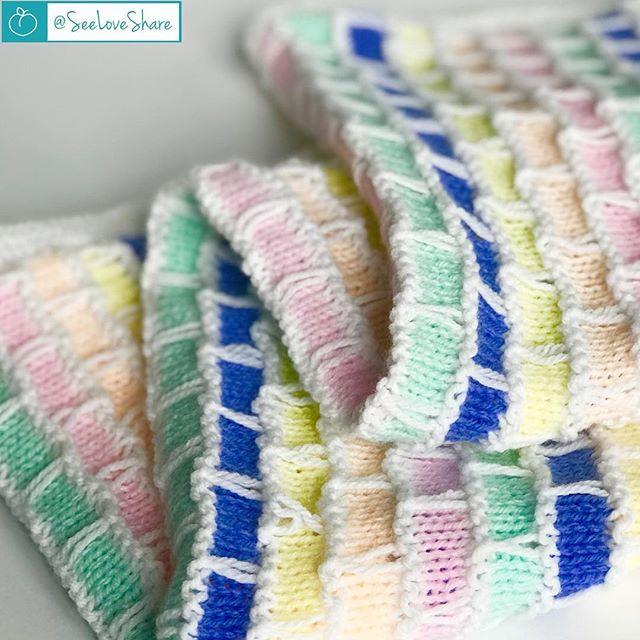 Knit Brick & Mortar Baby Blanket