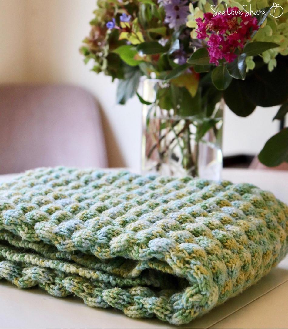 Bubble Stitch Baby Blanket