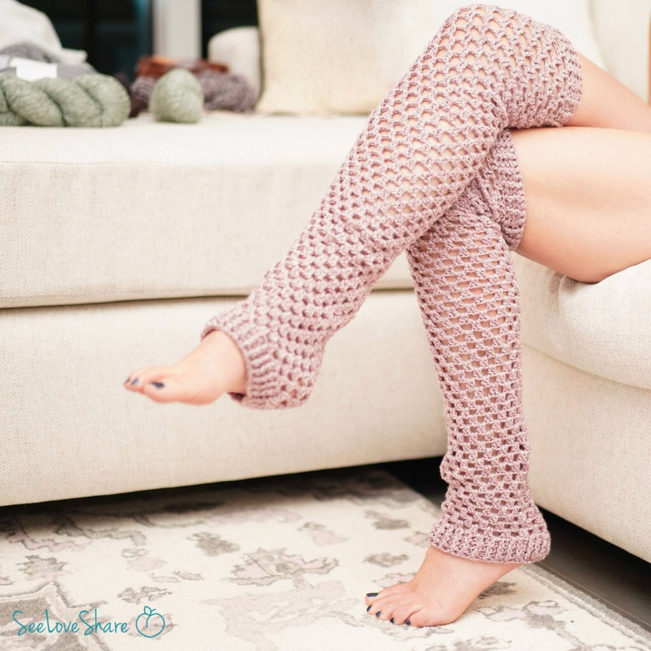 Keep-Me-Warm Leg Warmers - Crochet