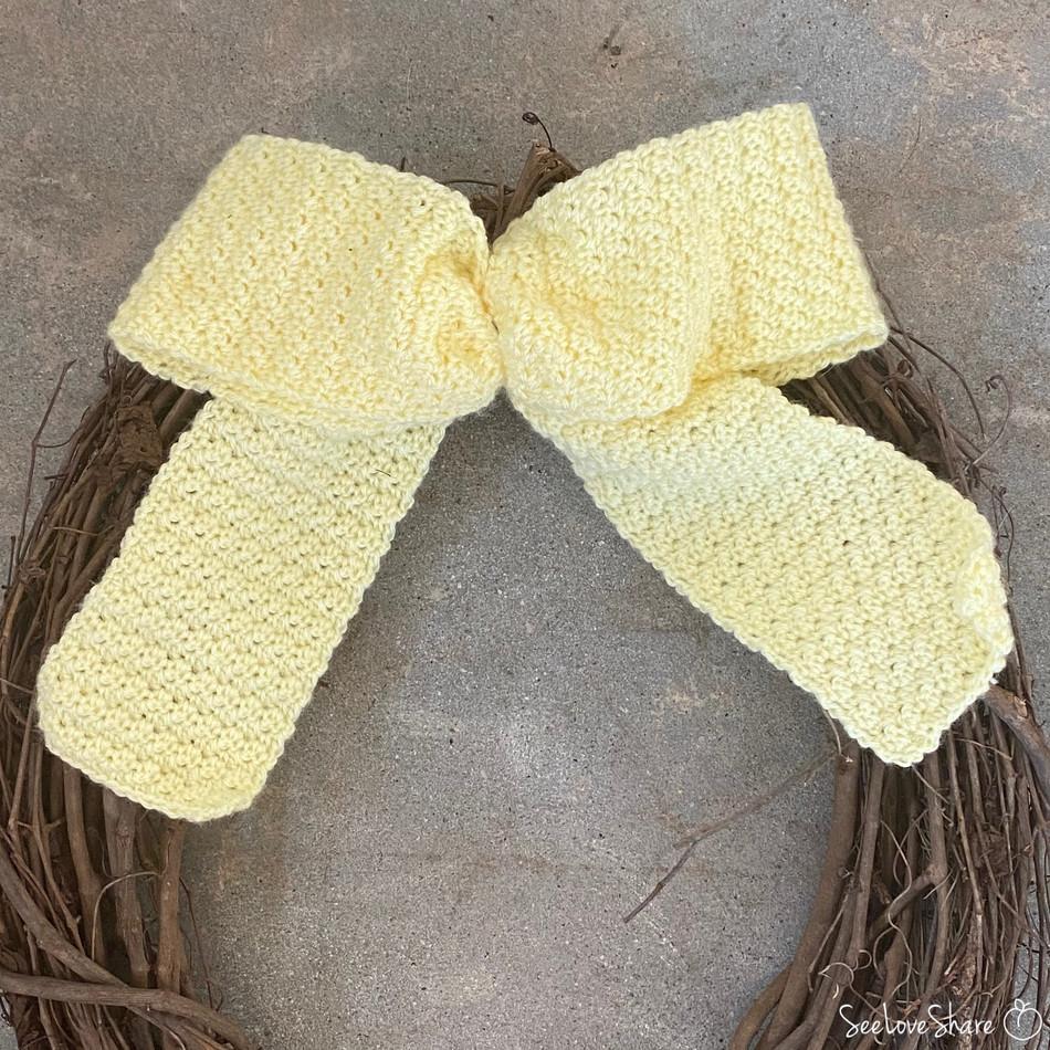 Simple Bow Ribbon - Free Crochet Pattern