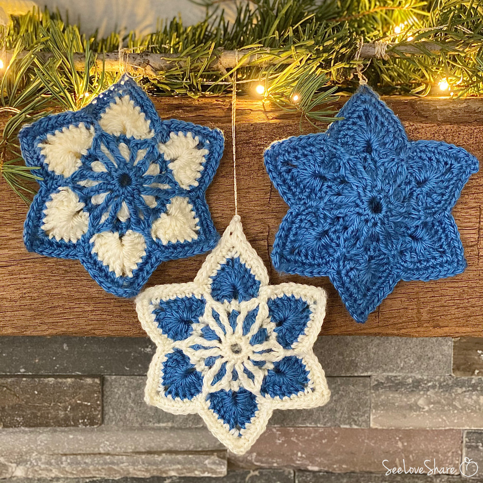 Brioche Six-Point Star - Free Crochet Pattern